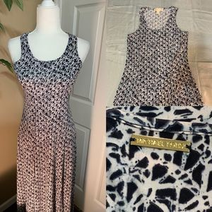 Michael Kors abstract print maxi dress sz XS